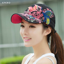 1PCS Adjustable Baseball Caps Flowers Embroidery Summer Caps Fashion Women Baseball Hat Casquette Female Hats 2017 New