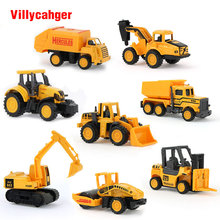 1 Pcs Mini Diecasts Car Mutiple style Alloy Construction Vehicle Engineering Car Dump Truck Artificial Model Toys For boy kids