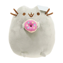 2017 Hot 15cm PP Cotton Cute Pusheen Cat Eat Donuts Plush Doll Soft Stuffed Toy For Kids Toy For Gift On Sale(China)