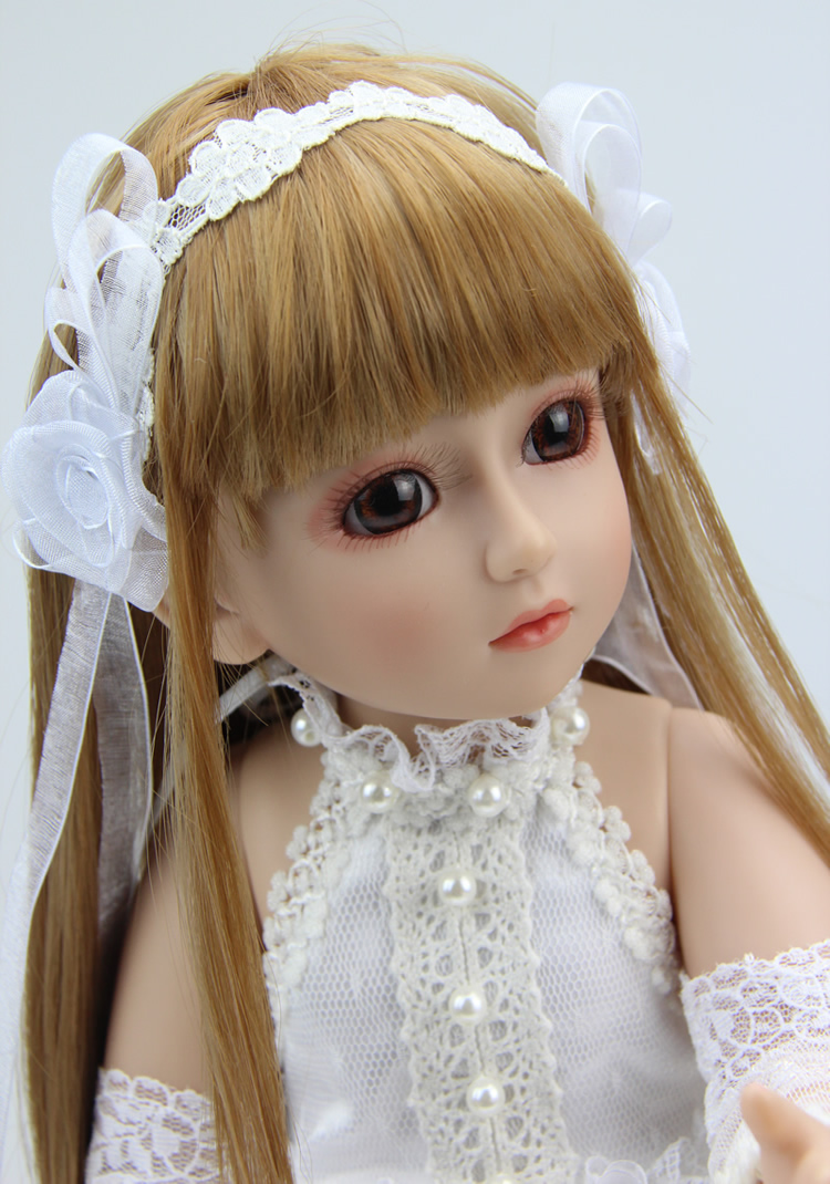 45cm high quality Silicone baby reborn dolls/baby White princess dress SD doll for girl princess gift <br><br>Aliexpress