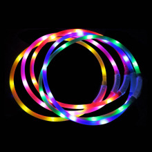 USB Charging Pet Dog Collar Rechargeable LED Tube Flashing Night Dog Collars Glowing Luminous Safety Pets Dog Collar