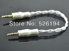 Free shipping High Performance 3.5mm to 3.5mm Mini Stereo Line Out Cable with pailccs 3.5mm banana plug(China)