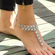 Tomtosh Bohemian Style Coin Joint Tassel Toe Chain Link Anklets Bracelet Foot Jewelry Body Jewelry For Women Free Shipping