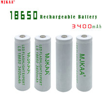 4pcs 18650 Rechargeable Battery 3400mah(not AA/AAA Battery) 3.7v Mah Li-ion Tip Head Bateria for Flashlight Headlamp(China)