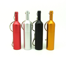 Top metal wine bottle usb flash drive disk keychain memory stick Pen drive personalized mini PC gift pendrive 4gb 8gb 16gb 32gb