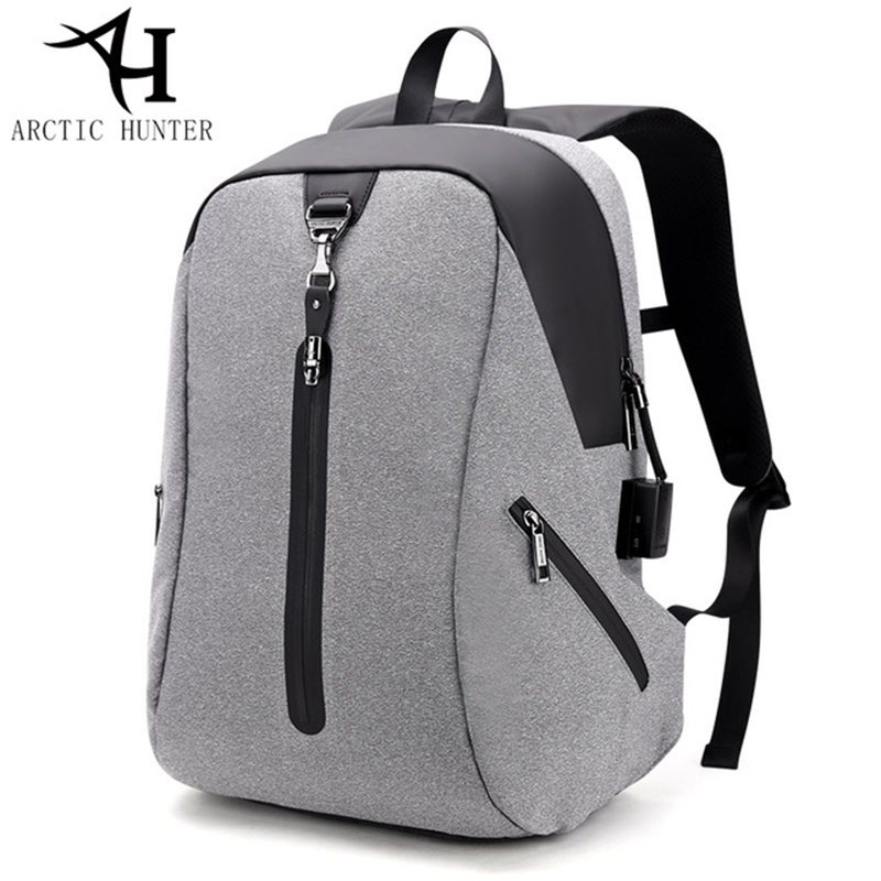 ARCTIC HUNTER New USB Anti-theft Alarm System Men Backpack Business Travel Laptop Back pack Mens Casual Backpack Male Bag<br>