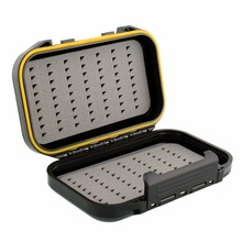 Waterproof ABS Durable Plastic Foam Fly Fishing Lure Bait Hook Tackle Storage Case Cover Box 13x9x3.8cm