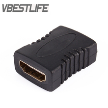 VBESTLIFE 10pcs/Packs for HDTV to HDMI Extension Cable For HDTV F/F Coupler HDMI Female To Female Adapter Converter Connector