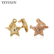 High Grade Starfish Apple Shaped Aromatherapy Diffuser Locket Pendant For Jewelry Making DIY Mixed Color 3pcs(China)