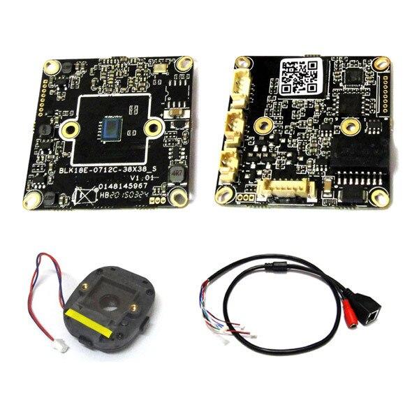 38*38mm Size IP Camera Module 1.0Megapixel Hi3518E DSP OV09712 IPC PCB board + IP cctv cable + IR-CUT<br><br>Aliexpress
