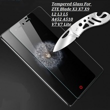 Tempered Glass For ZTE Blade X3 T630 X7 D6 X9 L2 L3 L5 Z7 Z9 mini Screen Protector Guard Film For ZTE Blade A510 A452 V7 V7 lite