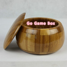 2Pcs / Set Foreign Trade New Bamboo Go Game Box 15cm * 9cm(China)