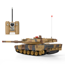 HUAN QI 516-10 1/24 Scale German Leopard A6 Infrared Fighting RC Battle Tank with Sound and Lights RC Tank Toys
