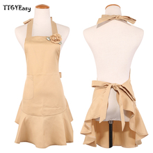2017 Aprons Bib Aprons for Woman Sexy Kitchen restaurant Cooking Apron Cotton Waitress Cosplay Cuisine Pinafore Short Apron