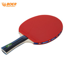 BOER 2017 New 1 Set Long/Short Grip Table Tennis Rackets Poplar Wood Double Face Handle Ping Pong Paddle Wholesale DropShipping