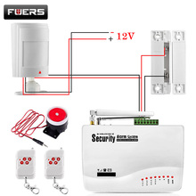 GSM Alarm System For Home security System with Wired PIR/Door sensor Dual Antenna burglar alarm(China)