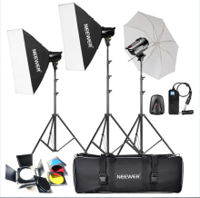 Neewer 540W(180W x 3) PhotographyStudio Flash Strobe Light Lighting Kit for Portrait Photography,Studio and Video Shoots(T-180B)(China)