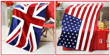 100% cotton Union Jack Bath Towel UK/American/Canada Flag Beach Towel  National Flag Towel 70X140CM Free Shipping