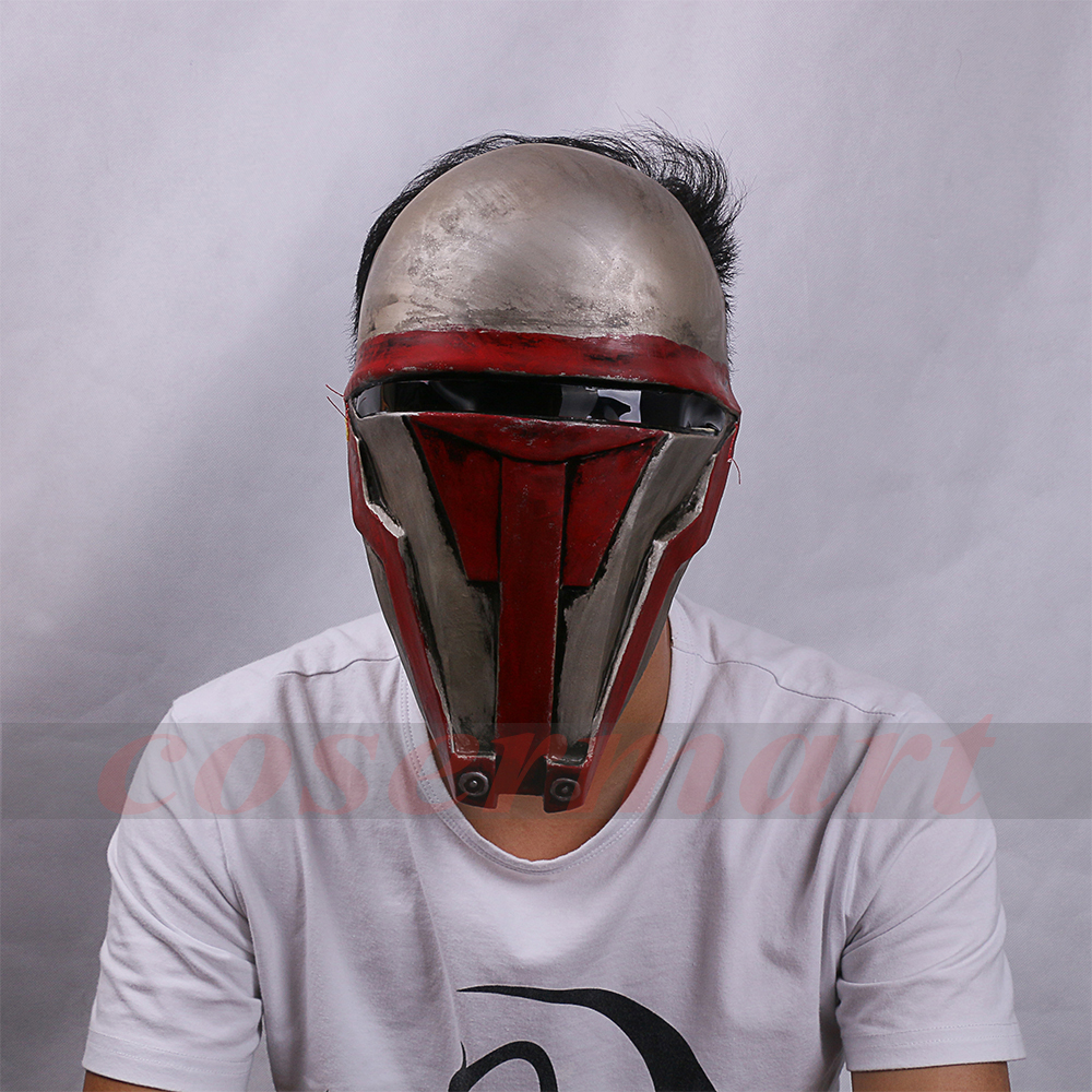 Movie Star Wars Knights of the Old Republic Darth Revan Mask Cosplay Helmet Masks Adult Latex Halloween Party Prop (3) -