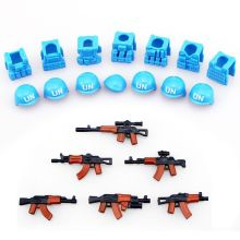 guns+ helmet Beret UN Bulletproof Vest AK Weapons Pack Military Army Bricks City Police Blocks Toys Compaitble with a