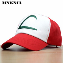 2017 Time-limited Sale Letter Adult Gorras Anime Cospaly Casquette Pokemon Hat Ash Ketchum Visor Caps Costume Play Baseball Cap