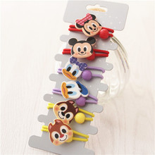 Buy 6 PCS New Lovely Cartoon Mouse Duck Elastic Hair Bands Baby Headwear Girls Hair Accessories Tie Hair Ropes Children Headdress for $2.73 in AliExpress store