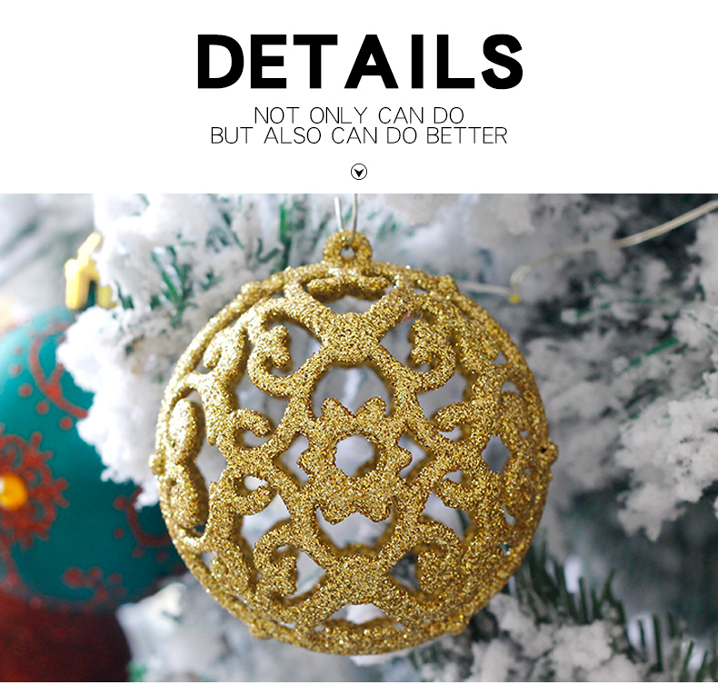 05 inhoo 6cm Christmas tree decorations Balls Ornaments Pendant 20pcs Red green white gold Ball Accessories For Home Xmas Party Hot