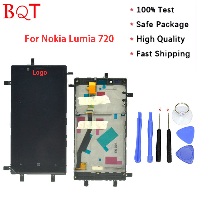 Best Quality Lumia 720 LCD For Nokia Lumia 720 LCD Screen With Touch Screen Digitizer Assembly + Bezel Frame <br><br>Aliexpress