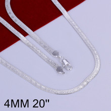 New Design Casual Style Male Chains Necklaces Promotions Price Silver Plated Snake Chain Necklace for Men