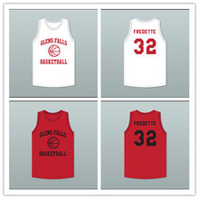 Jimmer Fredette 32 Glens Falls Indians White Red Practice Basketball Jersey(China)