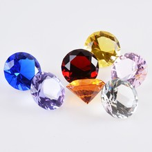 1 Piece 20mm Colored Faceted K9 Crystal Diamond Ornaments Shiny Glass Bead Crafts Office Home Decoration Accessories