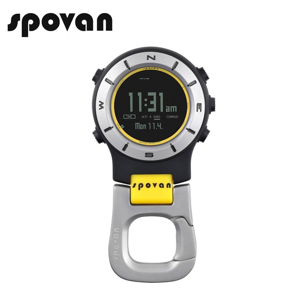SPOVAN Brand Sports Watches for Men Women, Pocket Watch, Waterproof LED Backlight Clock, Elementum2nb<br>