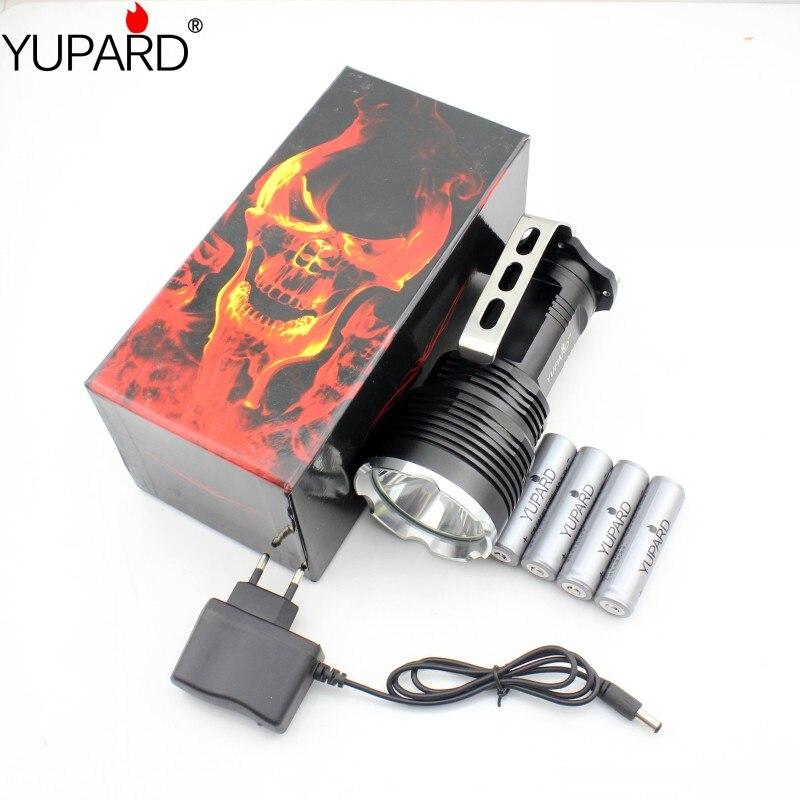 YUPARD Bright   XM-L2 LED T6 LED Flashlight outdoor sport lamp Torch Spotlight Searchlight +4*2200mAh 18650 battery+charger<br>