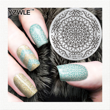Blooming Flower Unique Design Good Quality Stainless Steel Nail Art Image Plate DIY Stylish Nail Art Pattern Polish(China)