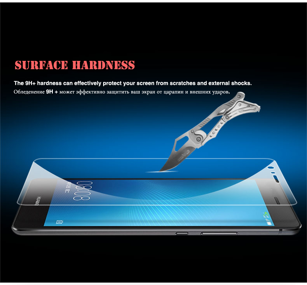 100% Real Tempered Glass For Huawei P6 P7 P8 P9 lite Honor 4X 5C 5A 6 6X 7 8 Screen Protector Scratch Proof Protective Film HD (11)