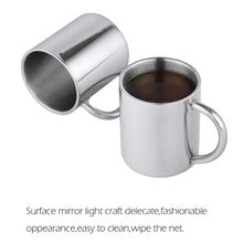 1pc Drinking Bottle Children Kids Stainless Steel Double Wall Water Mugs Double Wall Food Grade Durable Safe