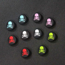 2pcs Skull Design Anti-slip Silicone Caps for Sony PS3 PS4 Game Controller Key Protector Joystick Caps for XBOX ONE/360(China)