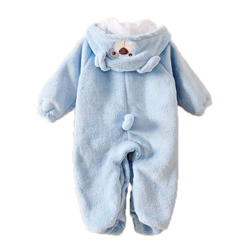 Newborn Warm Baby Rompers Animal Hooded Winter Baby Clothing Thick Flannel Baby Girls Outfits Baby Boys Jumpsuit Infant Clothes<br><br>Aliexpress