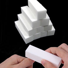 Hot New 10Pcs White Pedicure Sanding Manicure Nail Art Buffing Buffer Files Acrylic