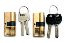 Durable Brass Double keys  Single Row  high Security AB Kaba Cylinder lock for practice