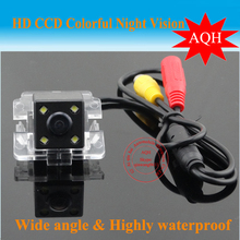 "Factory direct sale With 4LED CCD 1/3"" parking car rearview camera for Mitsubishi Outlander car camera Pixels:728*582 waterproof"