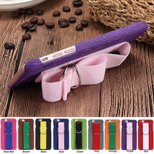RSHOP Hand Rope with Wrist Band Phone Protective Canvas Cover Case For iPhone 5 5S SE 6 6S 7 7S 8 Plus Funds Coque Etui Housse