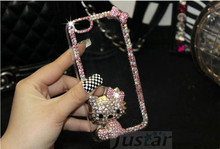 the most popular Case beautiful diamond hello kitty mobile phone shell case for iphone 7 7plus 5 5s 6 6s 6Plus 6splus
