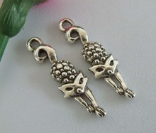 Wholesale 200pcs Tibetan silver zinc alloy fox Umbrella charms Pendants 33x9mm FL01839