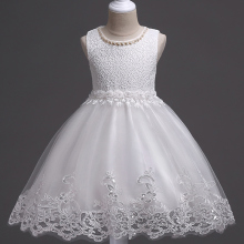Lace Flower Formal Evening Gown Flower Wedding Princess Dress Girls Children Clothing Kids Dresses for Girl Clothes Tutu Party(China)