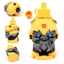 Transformers  water cups Cute Kids Water Bottle  Portable Travel Thermos mugs For Child #9993