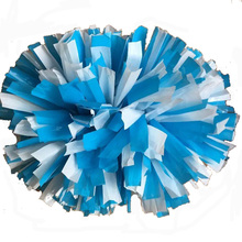 Blue + White cheerleading pompoms (2pieces/lot) 40CM Cheers pompons Color can free combination please give me message