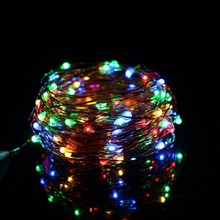 AXESHINE 10M 100 LED 3XAA Battery String Lights Xmas Garland Party Wedding Decoration Christmas Flasher Fairy - -Lighting Store store