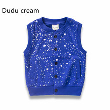2017 Spring Children Garment On New Pure Cotton Vest Loose Coat Children Vest Kids Children Boys Vest
