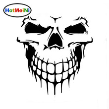 HotMeiNi 15*15 CM Skull Hood Decal Vinyl Large Graphic JDM Car Sticker Semi Boat Tailgate Window Classic Decoration Accessories(China)